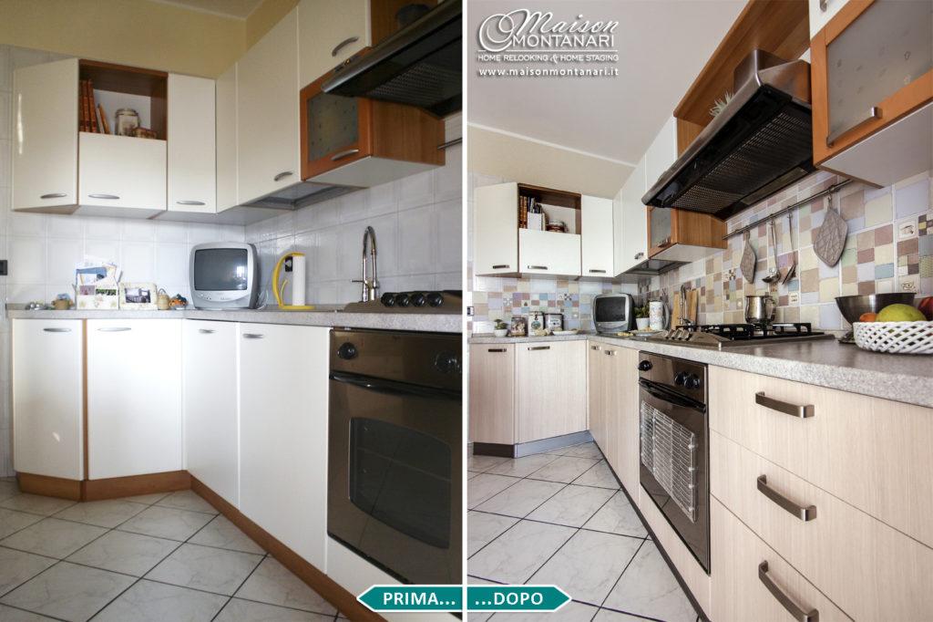 Relooking cucina bianca - prima e dopo