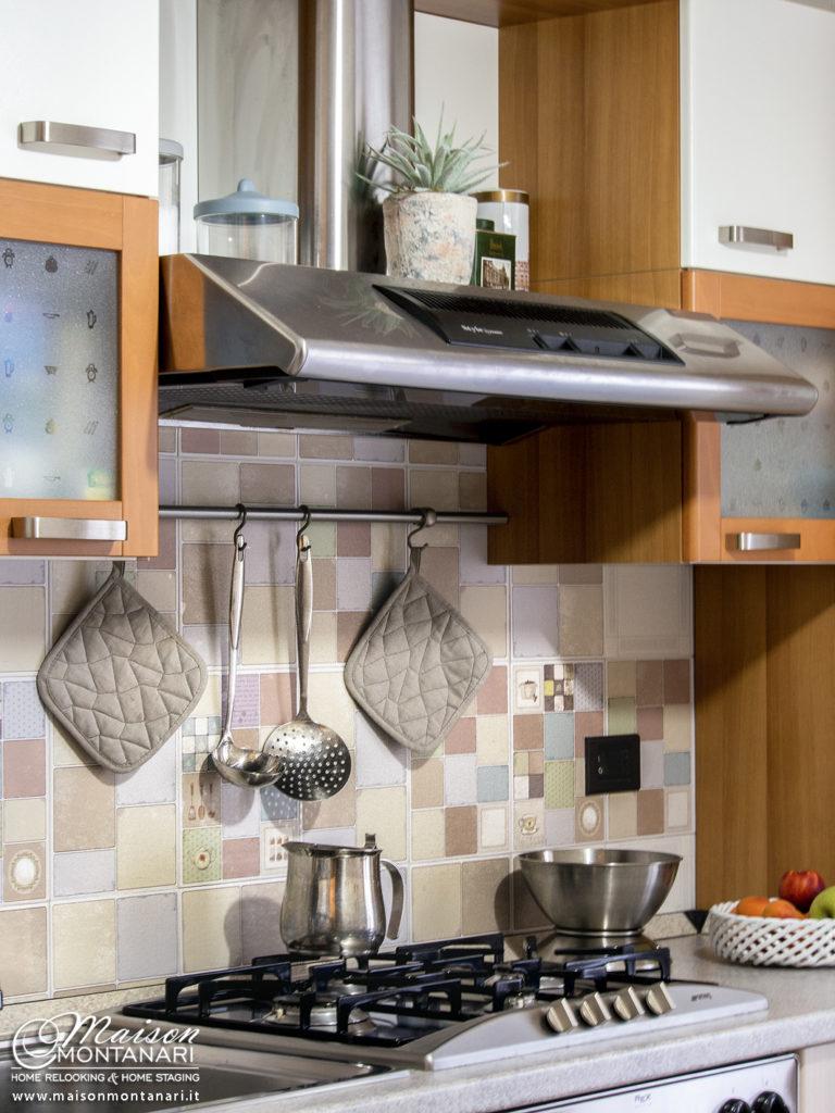 Decorazione adesiva per piastrelle cucina con grafiche vintage