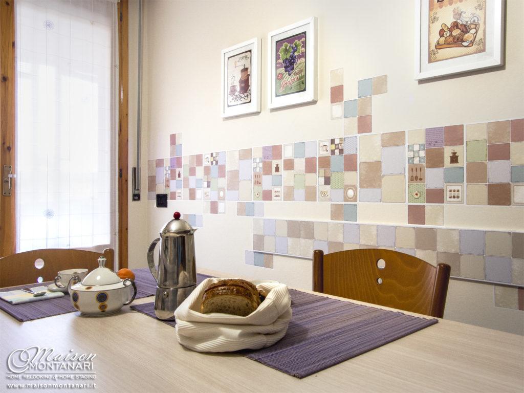 Adesivi da muro con grafiche vintage in cucina